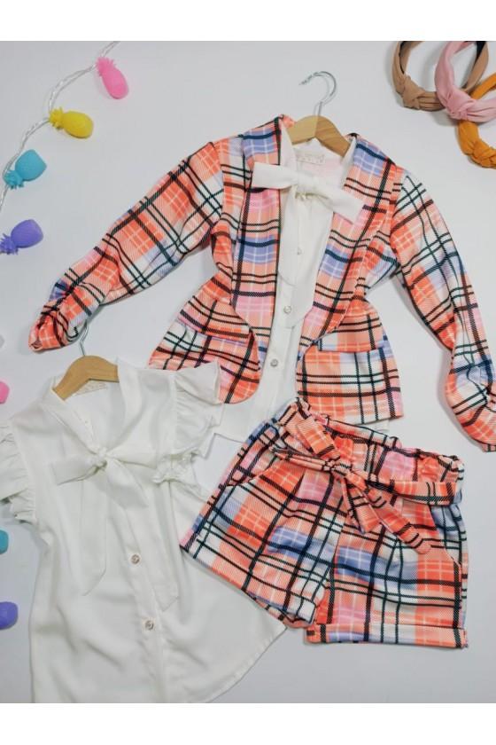 Set Celinka jacket and shorts orange