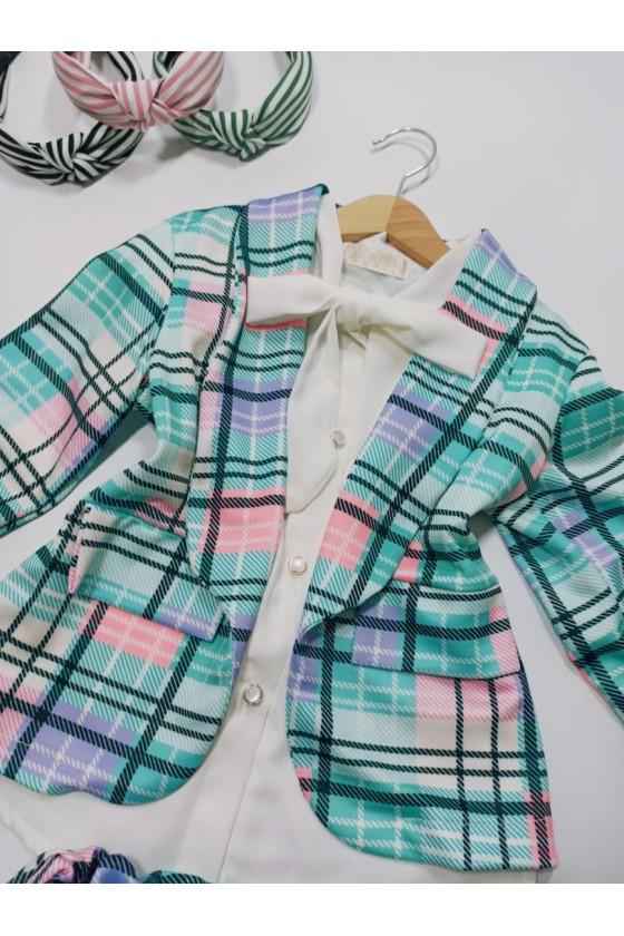 Set Celinka jacket and shorts turquoise