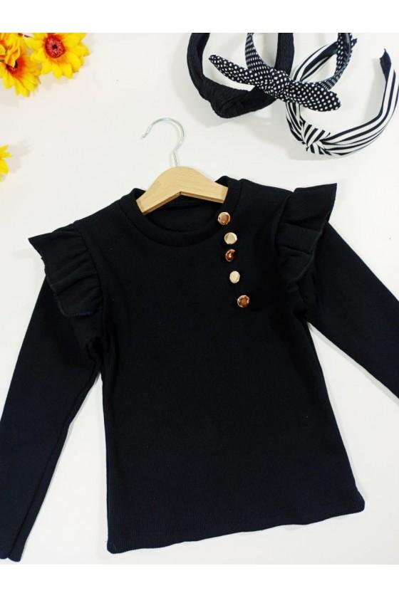 Luna black blouse