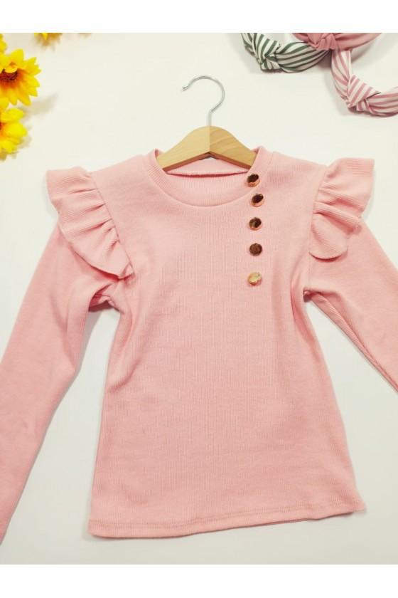 Luna powder blouse