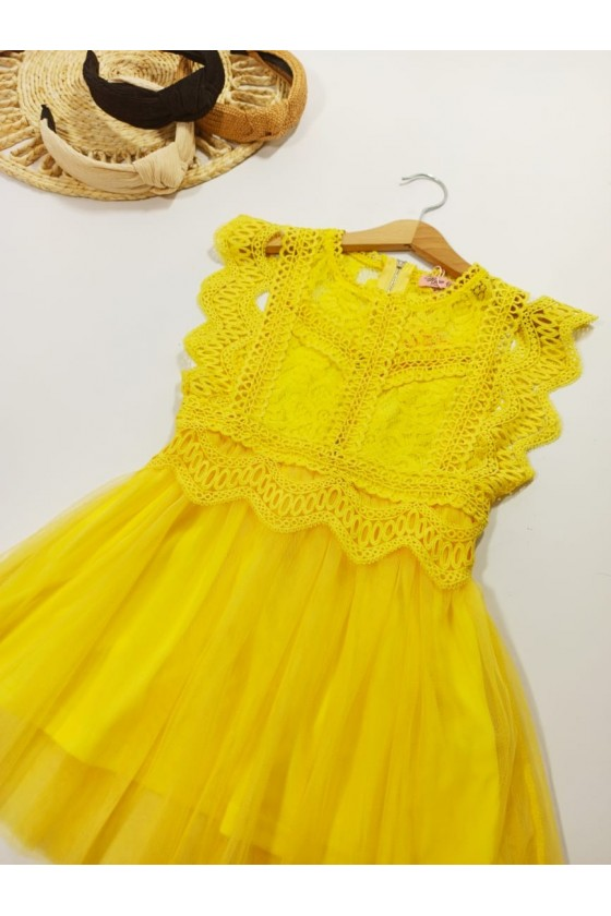 Victoria Lemon Dress