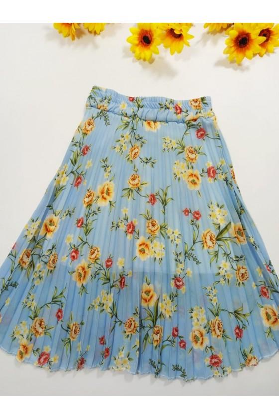 Doris baby blue skirt