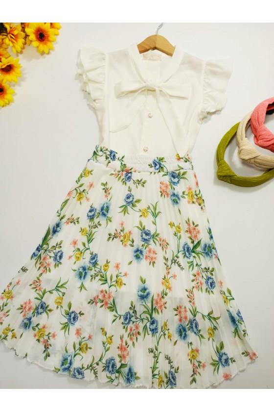 Doris white skirt