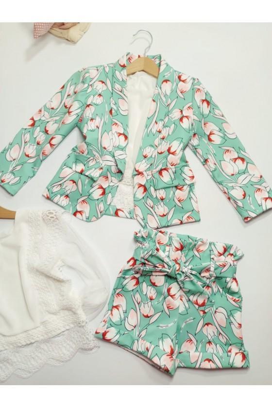 Arika set of blazers and mint shorts