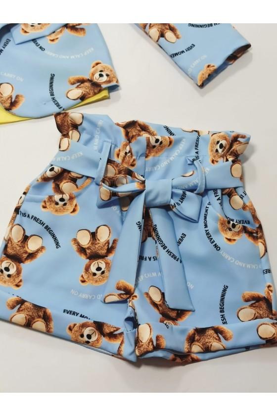 Yogi blazer set and baby blue shorts