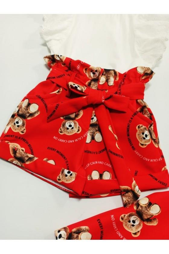 Yogi set of jackets and shorts red