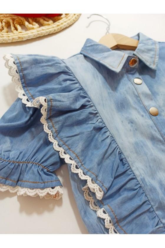 Blouse shirt Noa jeans blue