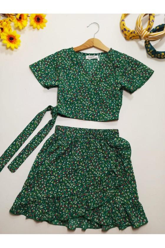 Kaya set blouse and green...