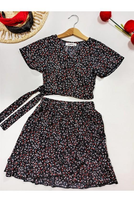 Set Kaya blouse and black...
