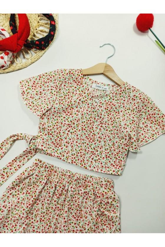 Set Kaya blouse and white skirt