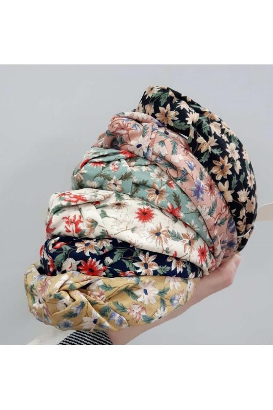 Opaska turban kwiatki