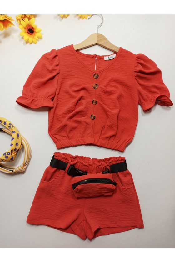 Set Doly pastel red
