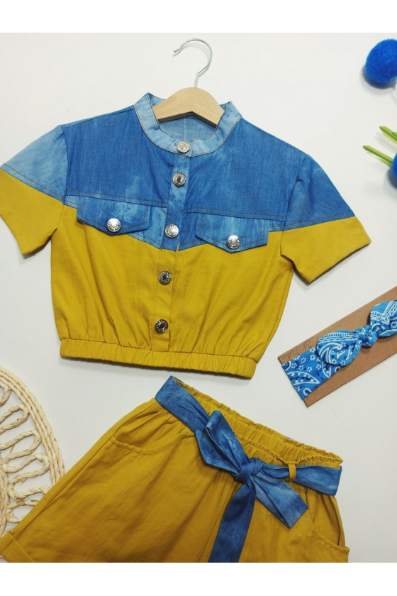 Set Timonka blouse and shorts sun
