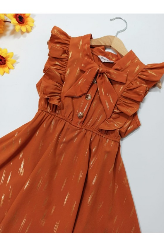 Emily dress asymmetric chocomilk