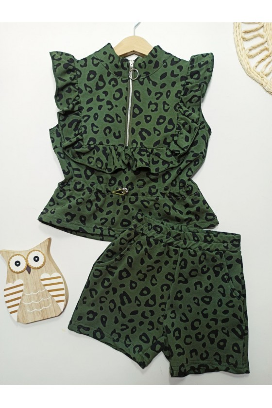 Grace khaki panther set