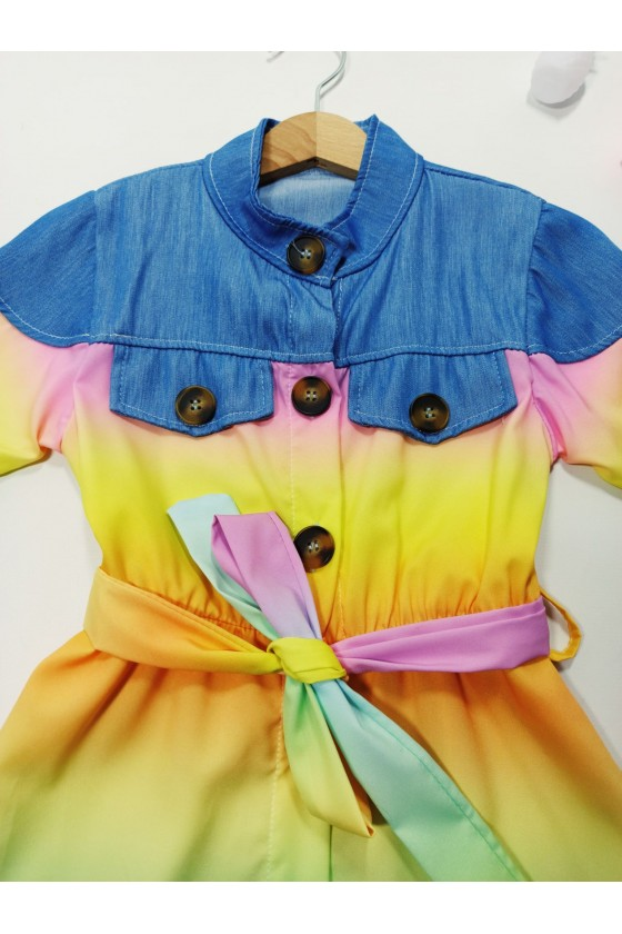 copy of Rainbow yellow pink tie day set