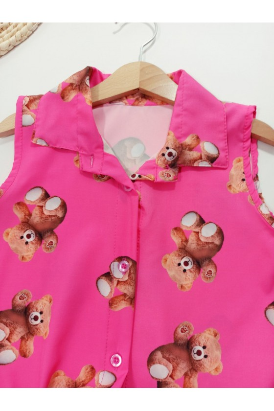 copy of Blouse Rose peas pomegranate