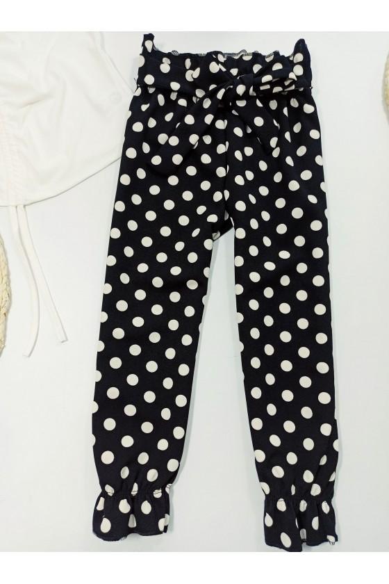 Spodnie groszki dla dziewczynki