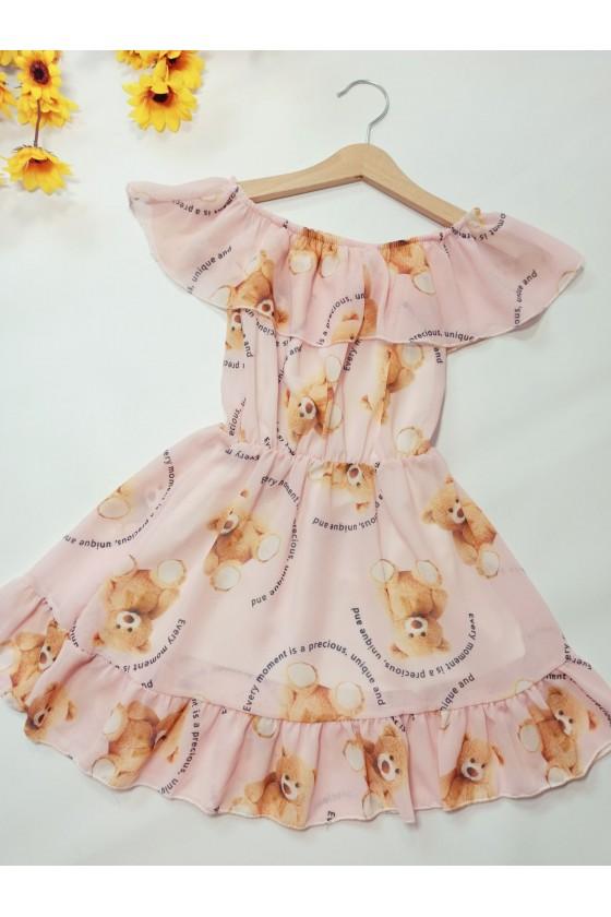 Sukienka dla dziewczynki hiszpanka letnia w misie