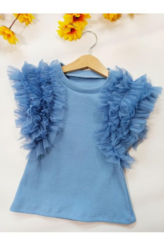 Bluzka Pufi bawełna babu blue