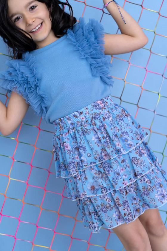 Spódniczka Flowi baby blue