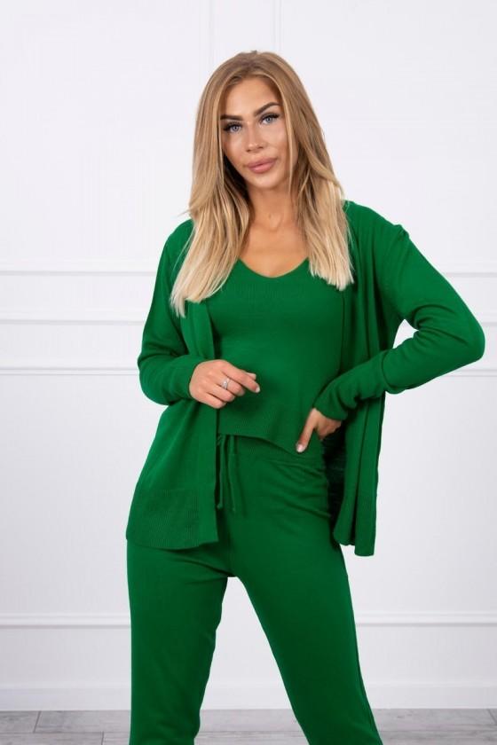 komplet bluzka sweterek spodnie jesień zima odzież damska sówka