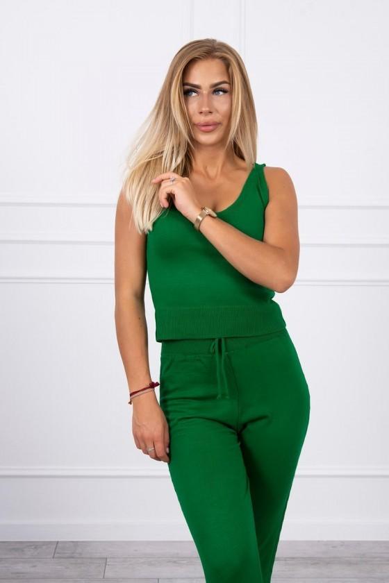 Komplet Tori sweterkowy 3-częściowy zielony