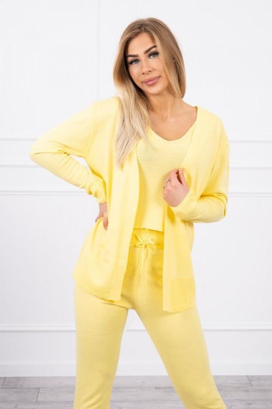 komplet sweterek bluzka spodnie jesień zima odzież damska sówka