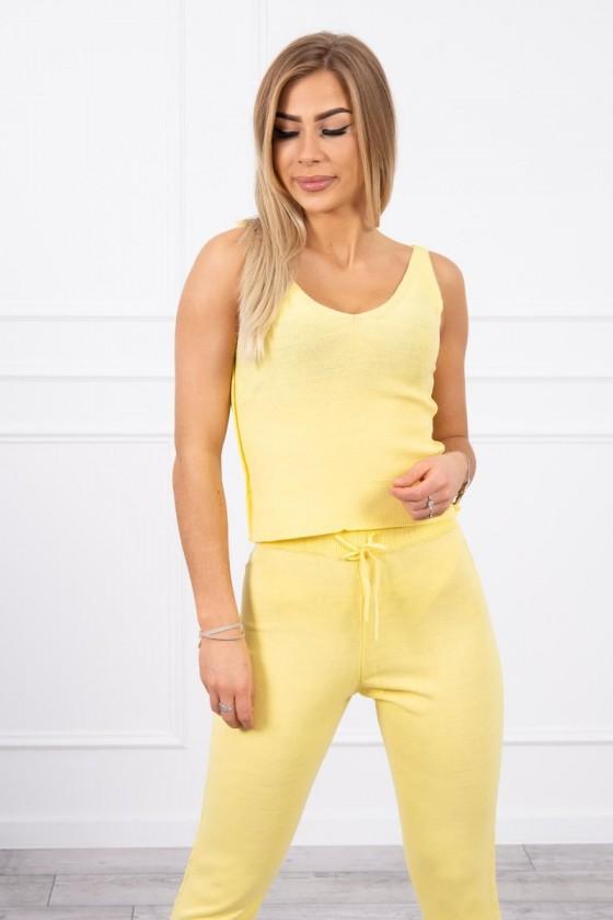 Komplet Tori sweterkowy 3-częściowy żółty