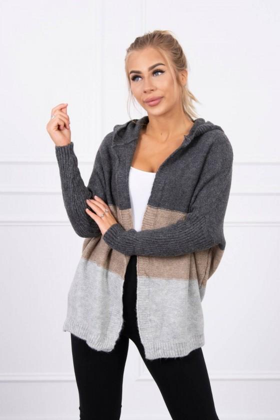 copy of Sweter z kapturem i rękawami typu nietoperz mięta