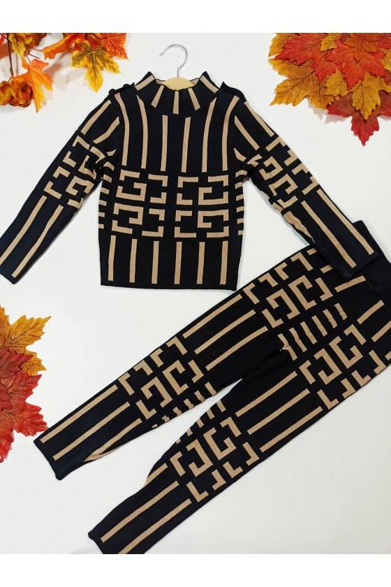 Komplet dla dziewczynki Anastazja sweterek i leginsy
