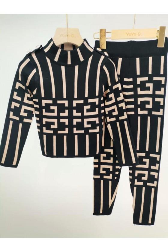 komplet dla dziewczynki super jakość sweterek i leginsy wzorki sówka odzież dziecięca