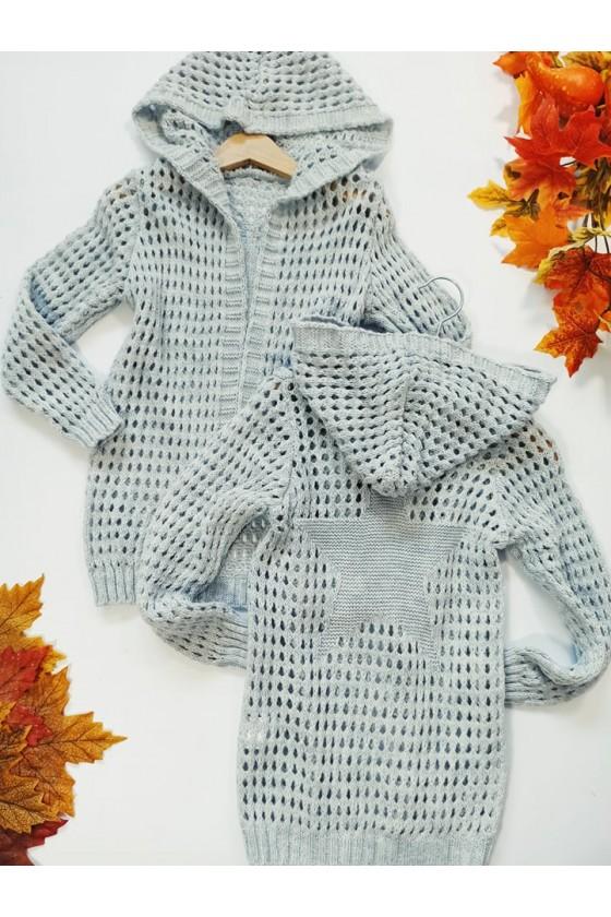 kardigan sweter dla dziewczynki  jesień w Sówka