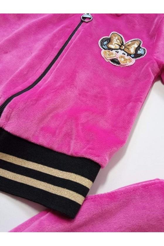 Komplet dla dziewczynki Zoe bluza i spodnie intensywny różowy