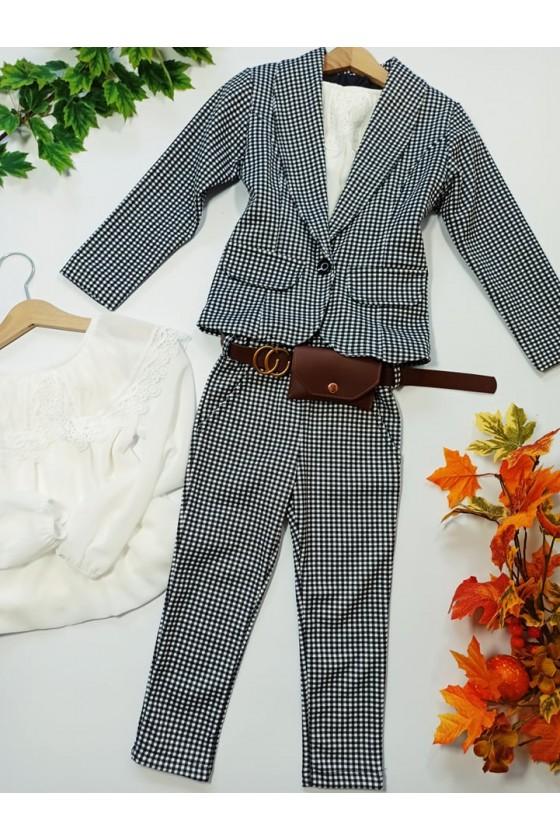 Komplet dla dziewczynki Pepi żakiet i spodnie z saszetką