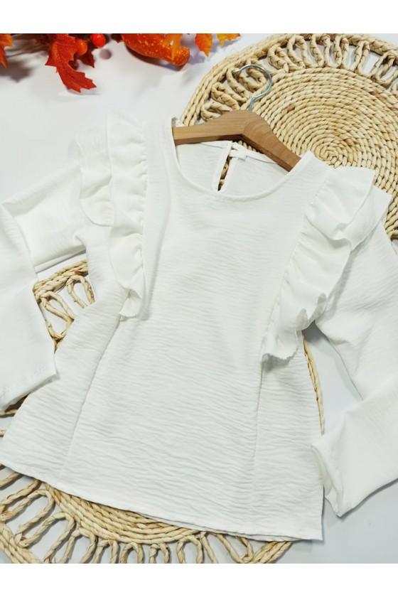 Bluzka dla dziewczynki elegancka witaj szkoło rozpoczęcie roku szkolnego uroczystośći galowa odzież dziecięca sówka nowości