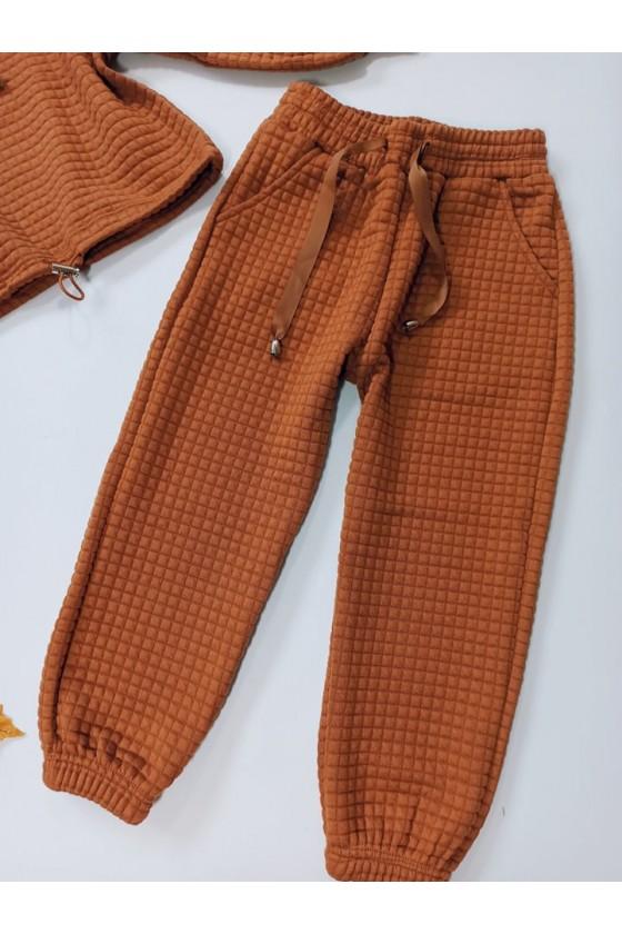 Komplet dla dziewczynki Laura bluza i spodnie Czekoladka