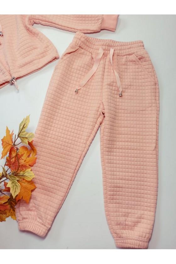 Komplet dla dziewczynki Laura bluza i spodnie Puderek