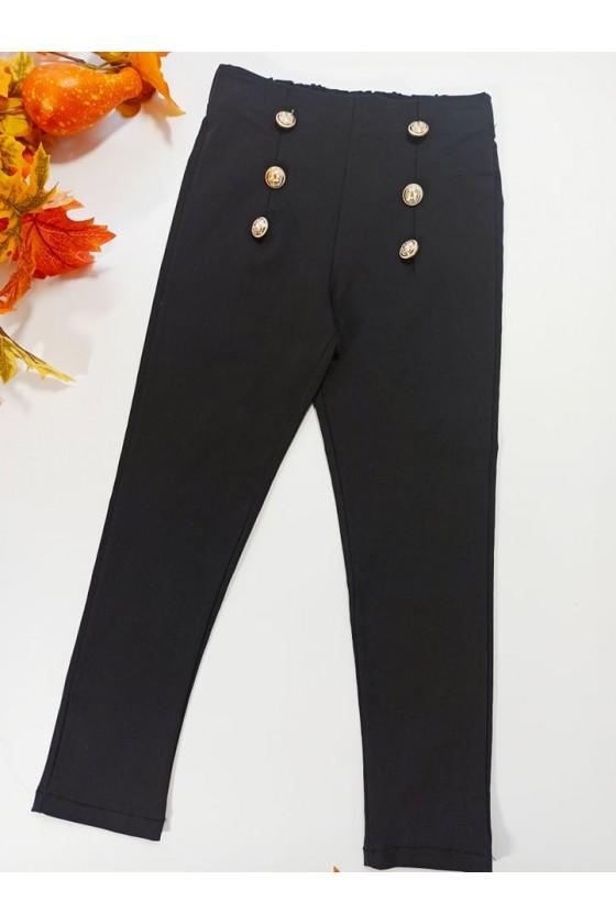 Spodnie dla dziewczynki Titi cygaretki z lycra czarne