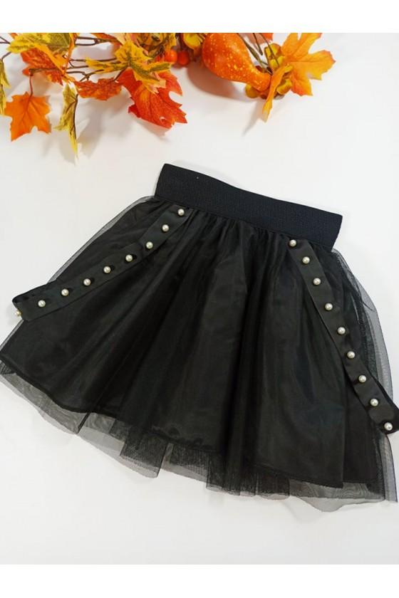 Spódniczka dla dziewczynki Sisi tiulowa z perełkami