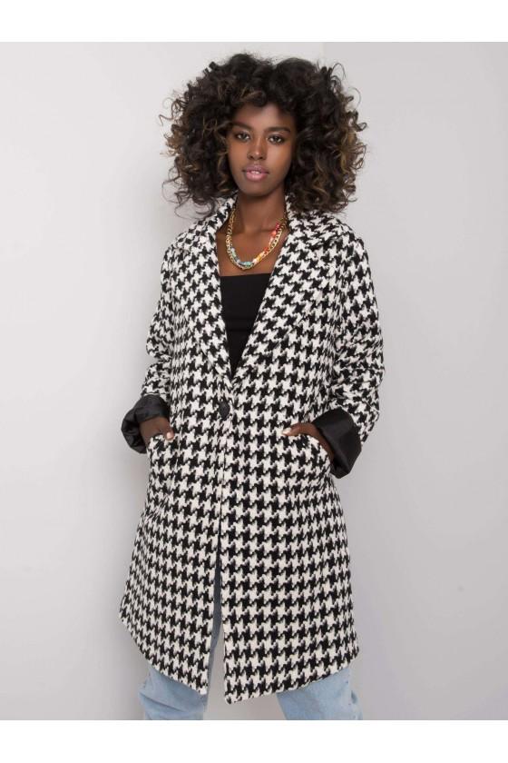 Płaszcz damski w pepitkę Amirah jesień sówka odzież damska