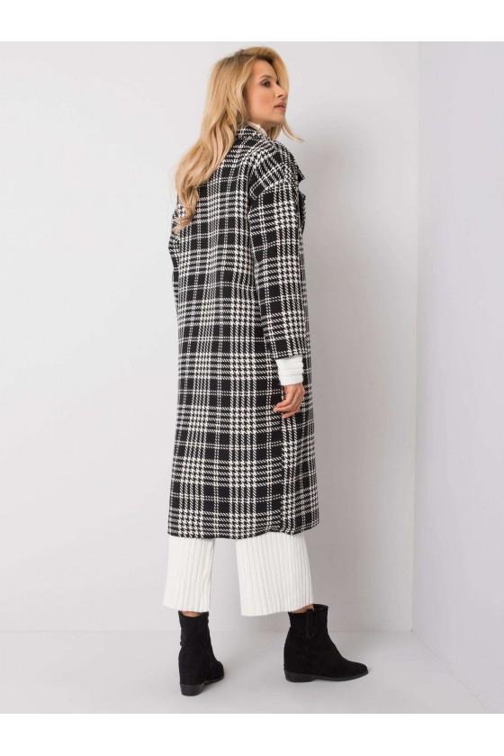 Płaszcz damski w pepitkę Paryżanka