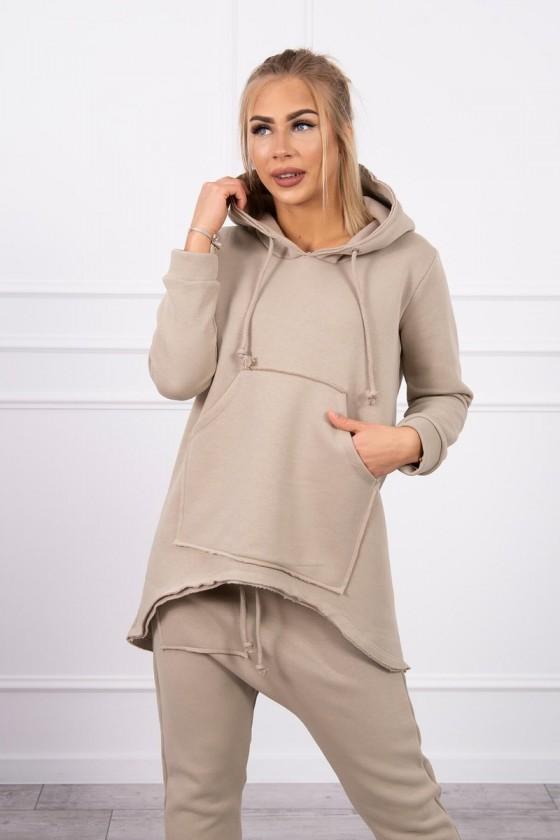 Komplet damski  spodnie i bluza baggy jesień bawełna sówka odzież damska