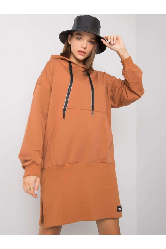 Sukienka bluza damska z kapturem jesień sówka odzież damska