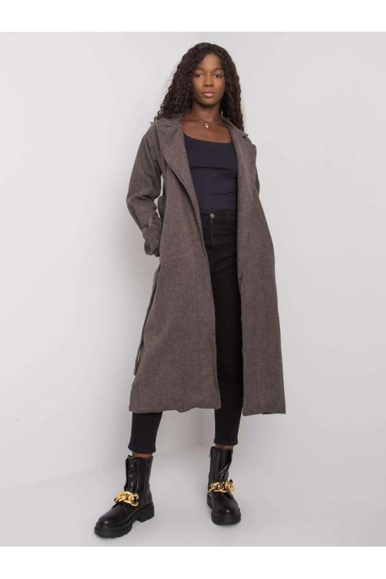 Płaszcz damski w jodełkę Pati jesień sówka odzież damska