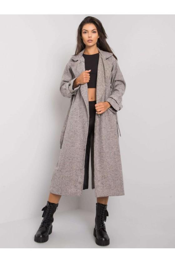 Płaszcz damski melanżowy jesień sówka odzież damska