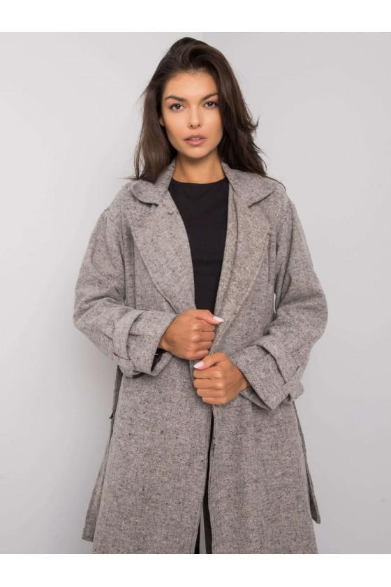 Płaszcz damski melanżowy Tina
