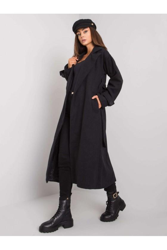 Czarny damski płaszcz Aya