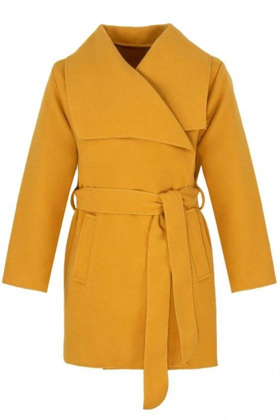 Płaszczyk dla dziewczynki filcowy  jesienny sówka odzież dzięcięca