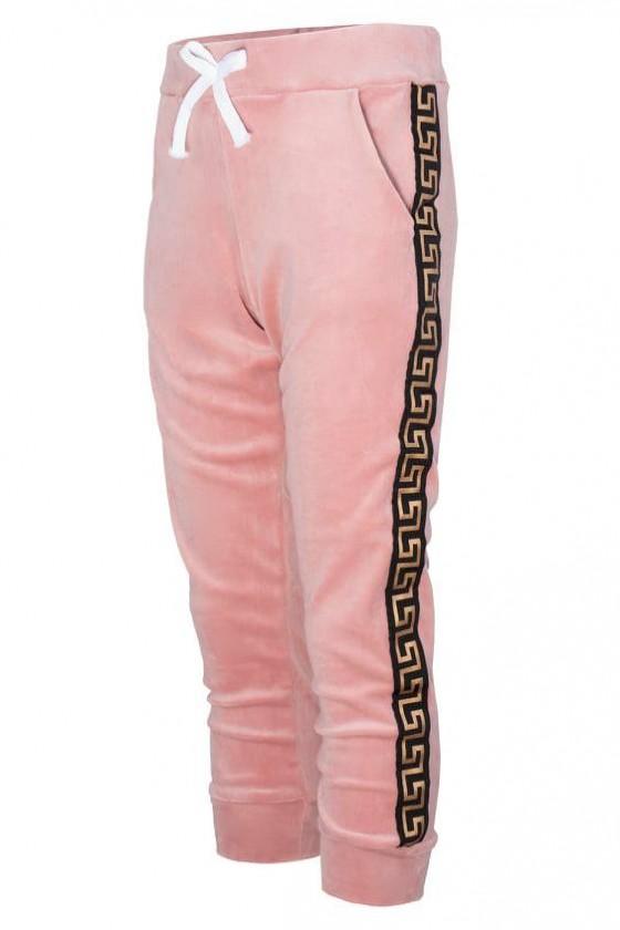 Komplet dla dziewczynki welurowy Inez bluza i spodnie pudrowe